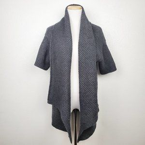 Ann Taylor Grey Chunky Knit Open-front Cardigan